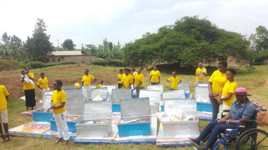 Reintegrated girls provided with reintegration kit