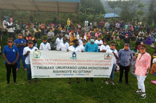 16 Days GBV campaign participants at Rulindo