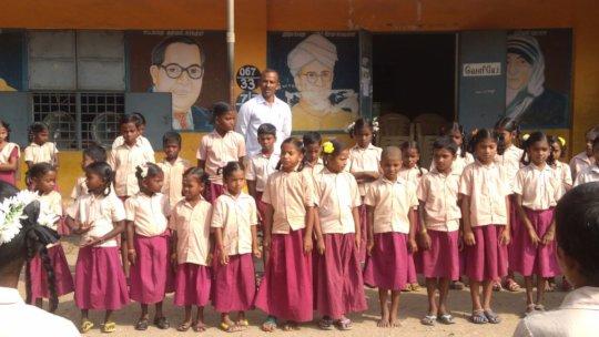 Education material for poor school children