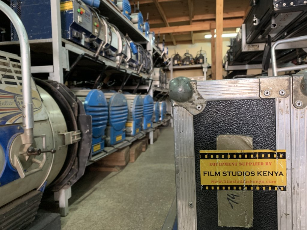 One shot from our tour of Film Studios Kenya