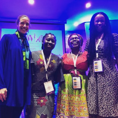 Piper, Eniola, Mkamzee, and Ronke after our panel