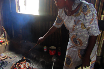Deborah cooking
