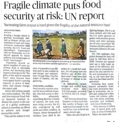 Food security at risk