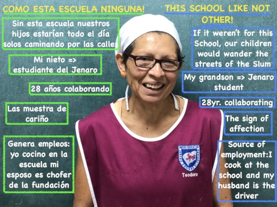 Teo: Teodora cooks at the Jenaro Aguirre School