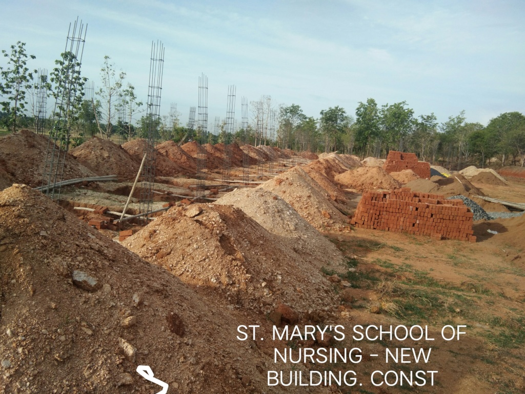 Hospital & Nursing building - construction ongoing