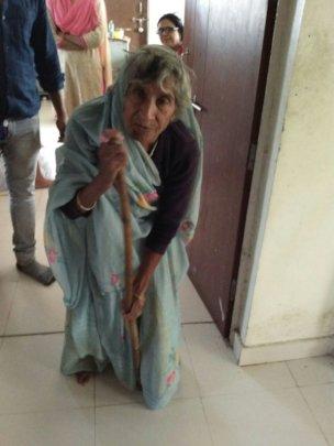 Ambulance for aged abandoned elderly women