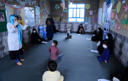 Socially distanced learning in Afghanistan