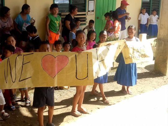 Thank you from Cuartero Elementary School !