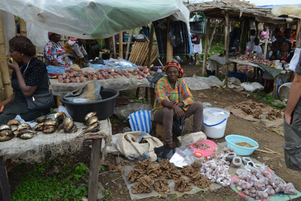 Urslar at her market post (after loan)