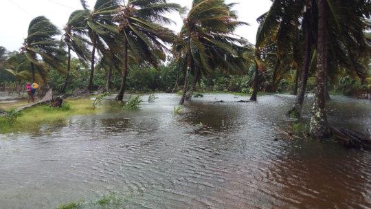 Cyclone floods new SEPALI property