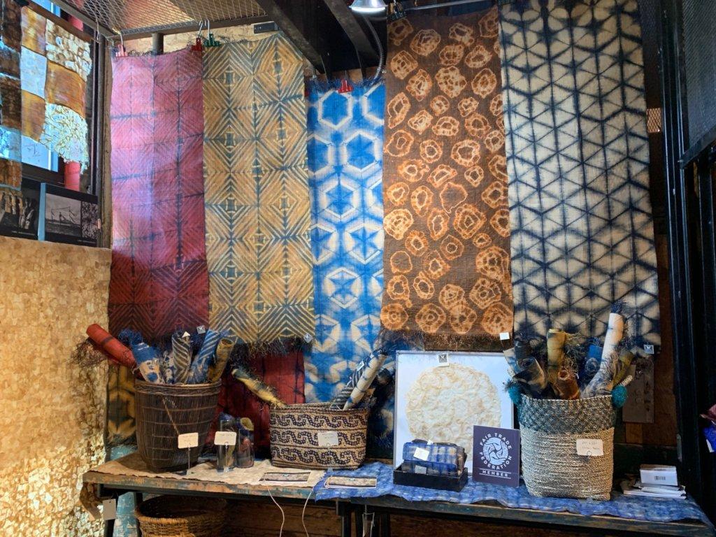 Silk and Raffia on Display, Portland Textile Month