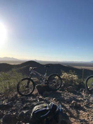 Biking over Arizona