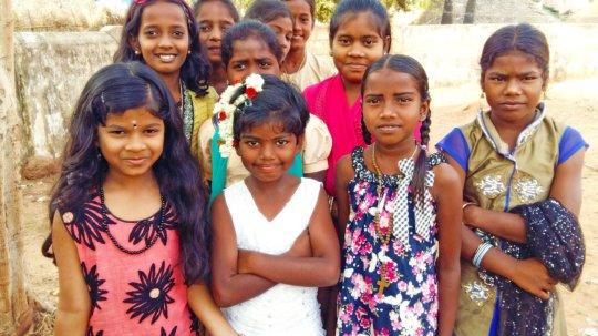Rural poor 7 girl children deserve education