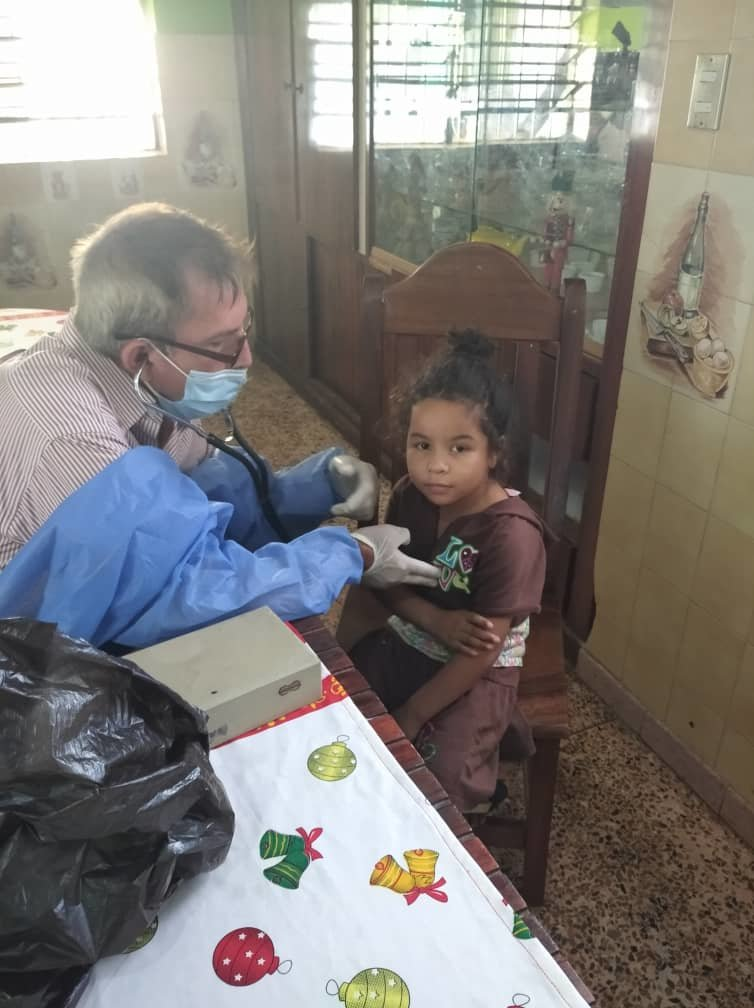 Young Orphan Girl Gets Medical Exam fro SAI Doctor