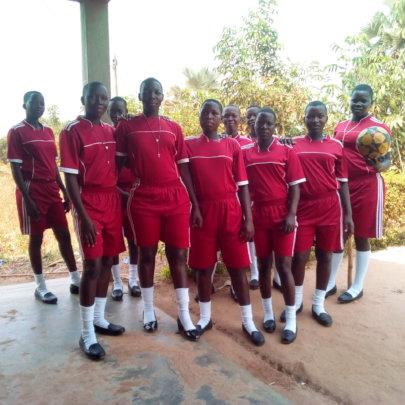 Sport uniform and a ball procured