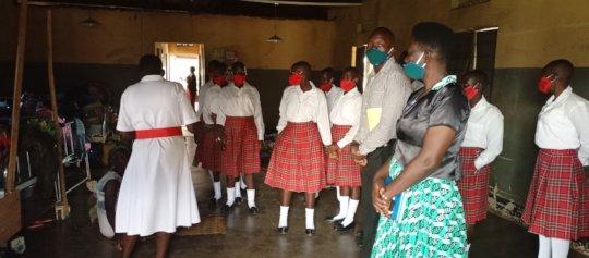 At Aboke HCIV shown various medical services