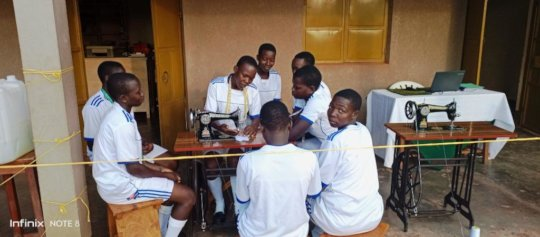 Students building spirit of Good Heart: Team work