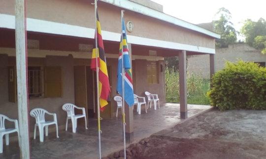 Uganda & East Africa Flag up: office, sign, love