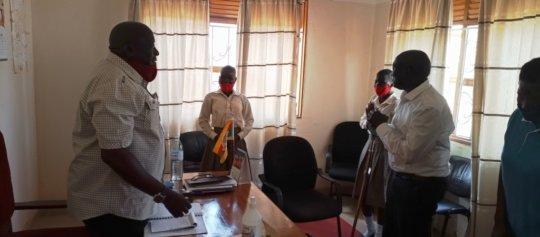 KIFA's Team leave RDC's office