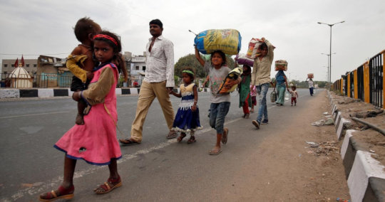 Migrant worker moving to Village