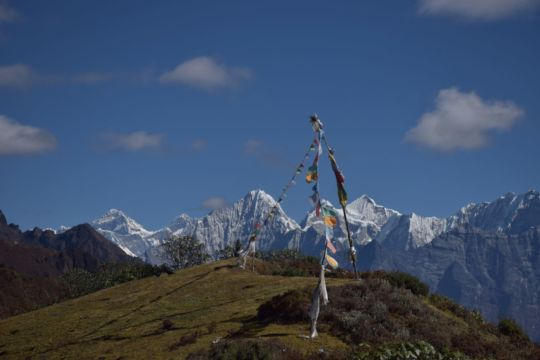 Greetings from Solukhumbu with view of Mt. EVEREST