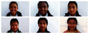 Krishma and her friends at hope home