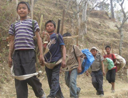 children working for school education