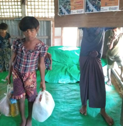 Ration being Distributed