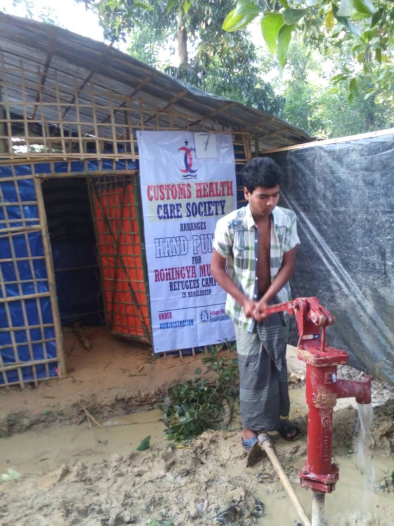 Hand Pump Installed for Clean Drinking Water