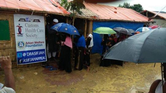 food for Rhongya refugees
