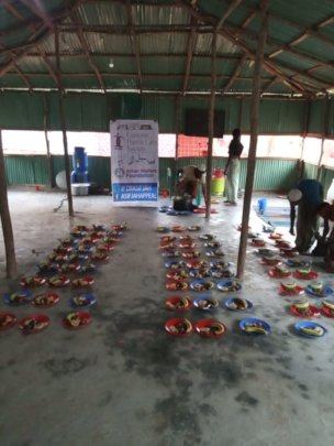 Food arranged for the refugees