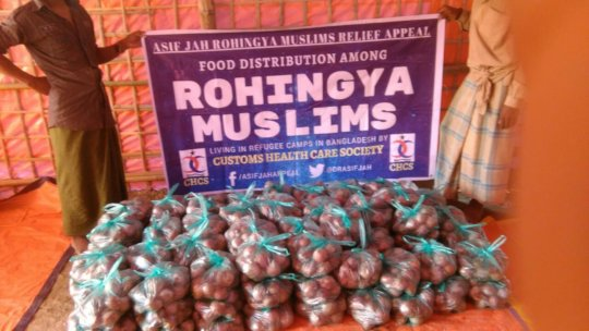 Food Packets to be Distributed among Refugees