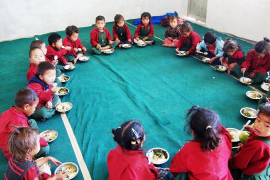 Daily Lunches for Underweight Children in Nepal