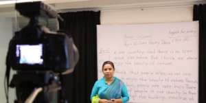Pre-recorded lessons by teachers from Dhaka