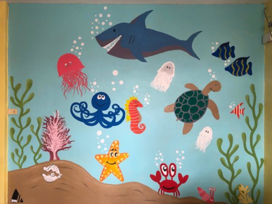 New Wall drawing in the Nursery Building