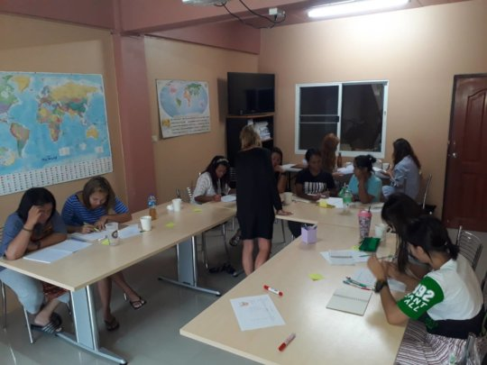 Our women receiving English Lessons