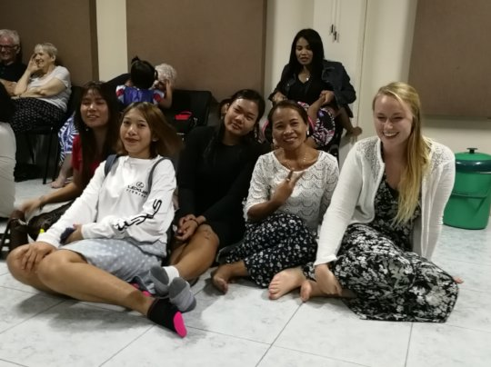 Some of the new women at our Family Night