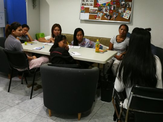 Women in our Training program receiving lessons