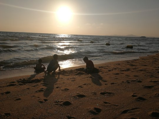 Tamar children enjoying beach after lockdown