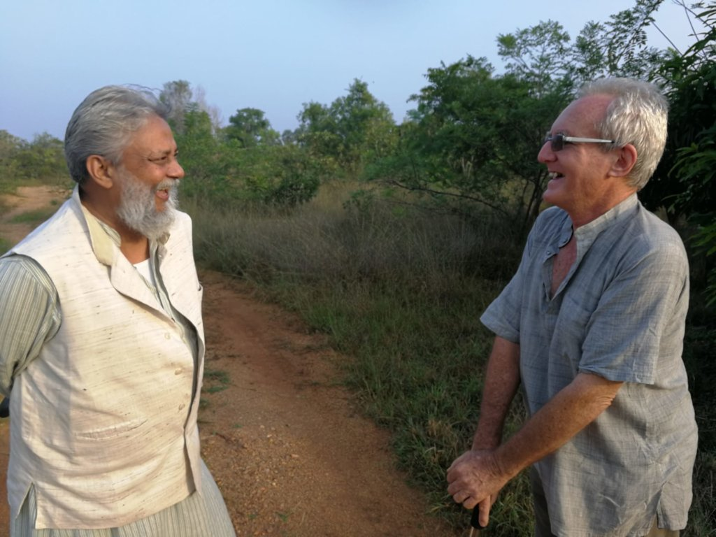 Dr. R. Singh with Joss Brooks, field visit