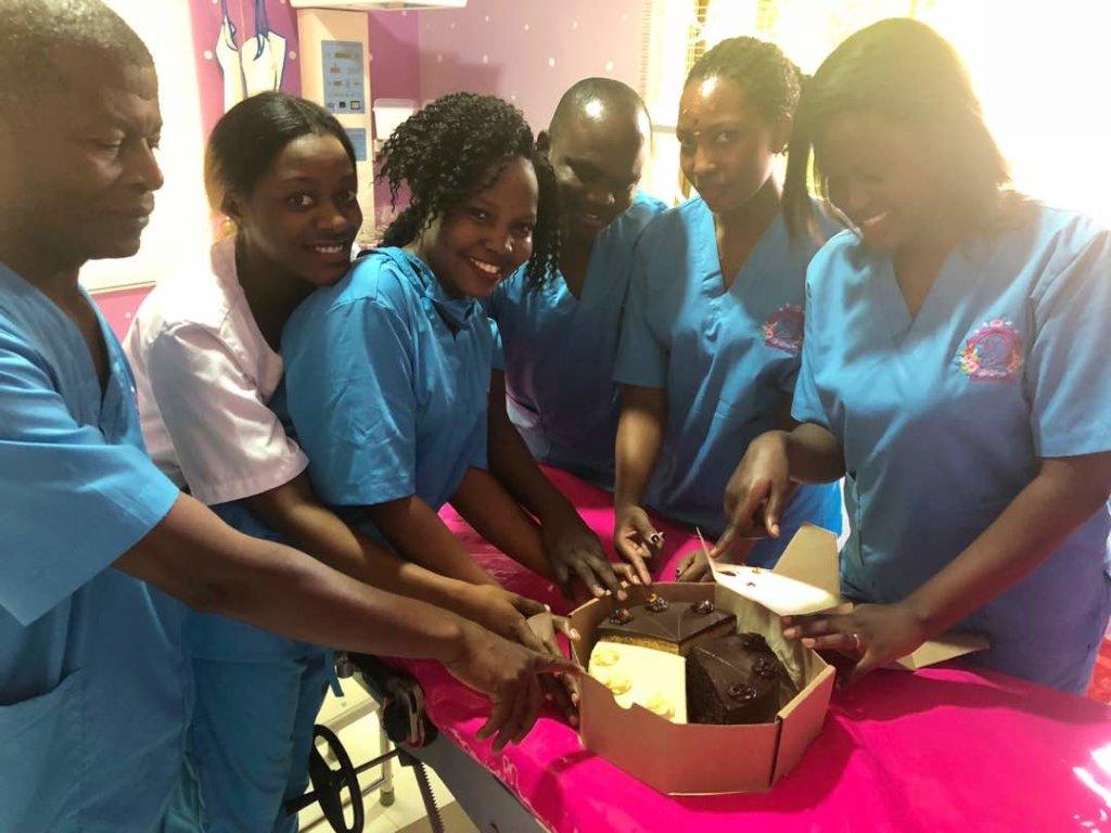 Our team got a cake