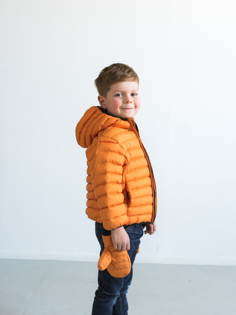 Kids jackets with mittens for the littlies!