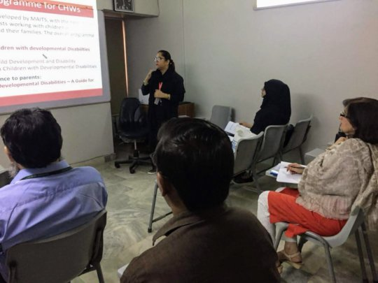 Our community worker training in Karachi