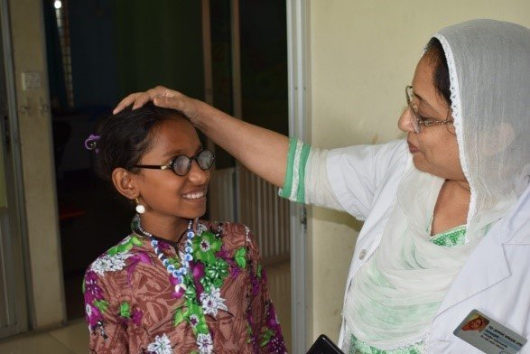 Dr Rokhsana with her patient