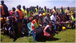 AVP participants in training on Mt. Elgon.