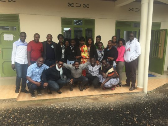 Participants/trainers at HROC training in Rwanda.