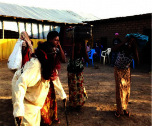 Role play at workshop in Kakuma Refugee Camp.