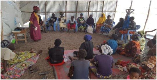 Women attending the truma healing workhsop