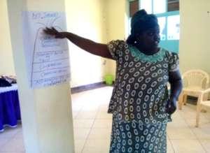 Getry Agizah facilitating an AVP workshop
