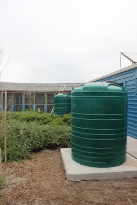 Rainwater tanks in place